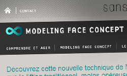 modeling face concept